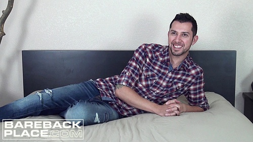 Straight Man Jaron Duval in a Gay Bareback Video